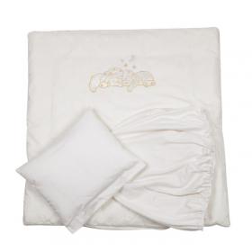 Комплект для круглой кроватки Pituso Звездочка 5 предметов цвет: бежевый