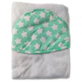 Полотенце с капюшоном Топотушки М-5 100х80 цвет: бирюза/звезда