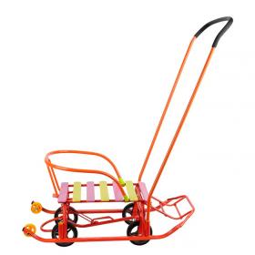 Санки с колесами Galaxy Мишутка-1 Универсал МУС-1 цвет: оранжевый