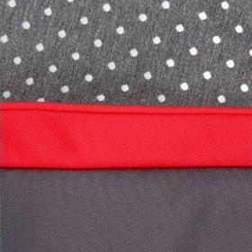Коляска 2 в 1 Prampol Daisy + спальный конверт цвет: серый/красный/белый принт точка
