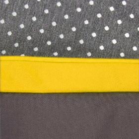 Коляска 2 в 1 Prampol Daisy + спальный конверт цвет: серый/желтый/белый принт точка
