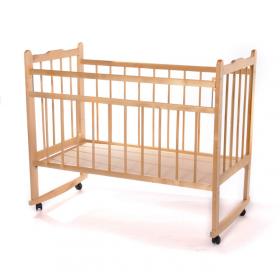 Кроватка-качалка Мишутка-14 цвет: светлый