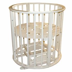 Круглая кроватка с маятником Ведрусс Оливия New 3 в 1 цвет: слоновая кость