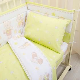 Бортик защитный в кроватку Мишка 10108 цвет: зеленый