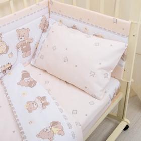 Комплект в кроватку Мишка 3 предмета 10008 цвет: бежевый