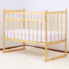 Кроватка-качалка Мишутка-13 цвет: светлый