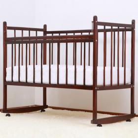 Кроватка-качалка Мишутка-13 цвет: темный