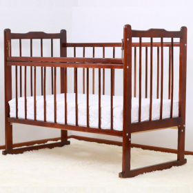 Кроватка-качалка Мишутка-14 цвет: темный