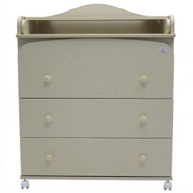 Пеленальный комод Каролина 80/3 МДФ 3 ящика цвет: слоновая кость