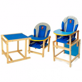 Стульчик для кормления ВИЛТ Кузя цвет: синий