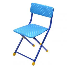 Стул детский складной Ника СТУ3 цвет: синий/горошек