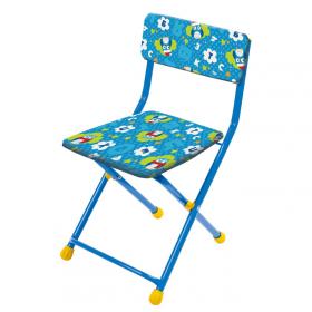 Стул детский складной Ника СТУ3 цвет: синий/совята