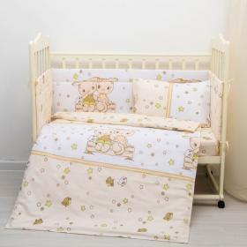 Комплект в кроватку Друзья 6 предметов цвет: бежевый