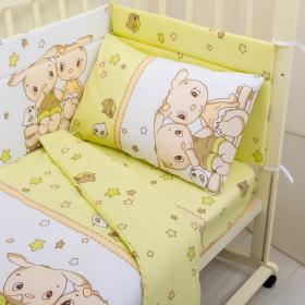 Бортик защитный в кроватку Друзья 10107 цвет: зеленый