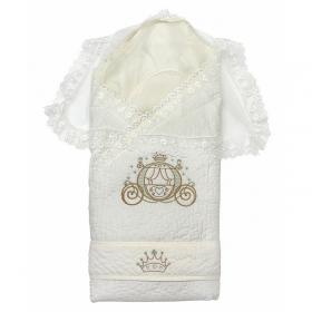Конверт-одеяло на выписку Сказка Весна цвет: бежевый