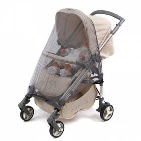 Москитная сетка на коляску Прогулка с клевантами 036B цвет: серый