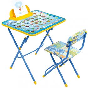 Комплект детской мебели Ника Азбука стол с пеналом+мягкий стул КУ2/9