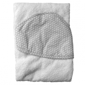 Полотенце с уголком Топотушки М-5 100х80 цвет: серый/горох