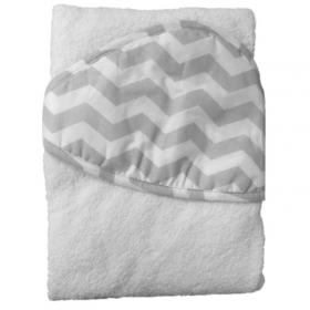 Полотенце с уголком Топотушки М-5 100х80 цвет: серый/зигзаг