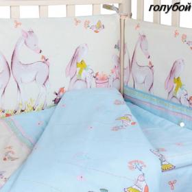 Комплект в кроватку Alis Оленята 6 предметов цвет: голубой