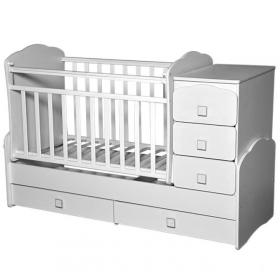 Кроватка-трансформер Антел Ульяна-1 New, маятник цвет: белый