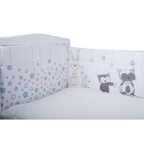 Бортик защитный в кроватку Лесные друзья 10151 цвет: голубой