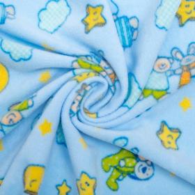 Детский плед Мишки и зайки, F42152 цвет: голубой