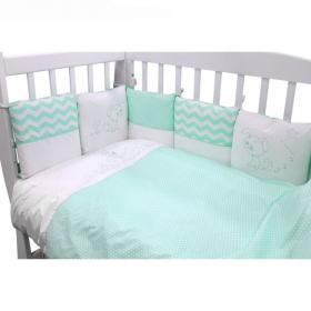 Бортик-подушки в кроватку Гав-Гав цвет: бирюзовый