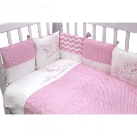 Бортик-подушки в кроватку Гав-Гав цвет: розовый