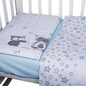 Комплект в кроватку Лесные друзья 3 предмета 10051 цвет: голубой