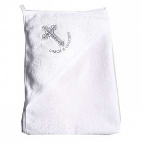 Полотенце-уголок для крещения (крыжма) Bambola, махра цвет: белый