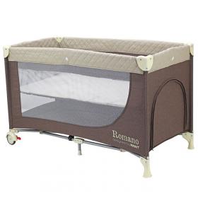 Детский манеж-кровать Rant Romano RP100 цвет: бежевый/кофе