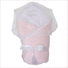 Конверт-одеяло на выписку Топотушки Арина 02.17 цвет: розовый