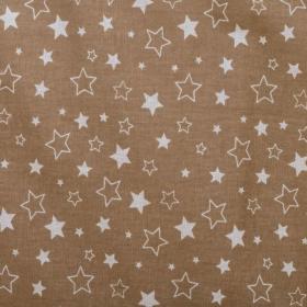 Бортик в кроватку Звездочки, универсальный 10134 цвет: кофе