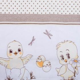 Комплект в кроватку Цыплята 6 предметов 10604 цвет: бежевый