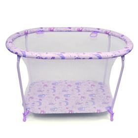 Манеж детский Globex Овал 125х85х77 цвет: фиолетовый