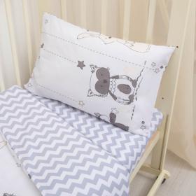 Комплект в кроватку Лесные друзья 3 предмета 10051 цвет: серый