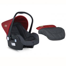 Автокресло Lorelli Lifesaver LB321 группа 0+ (0-13 кг) цвет: красный/черный 1800