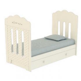 Кроватка ВДК Bonne маятник+ящик цвет: слоновая кость