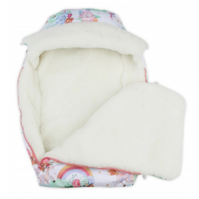 Конверт зимний меховой BabyGlory Snowball цвет: коралловый