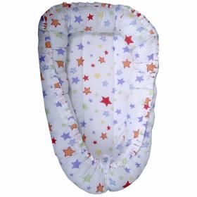 Кокон-гнездышко для новорожденных Млечный путь цвет: белый/звезды