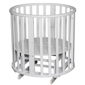 Круглая кроватка с маятником 6 в 1 Антел Северянка-3 Корона цвет: белый