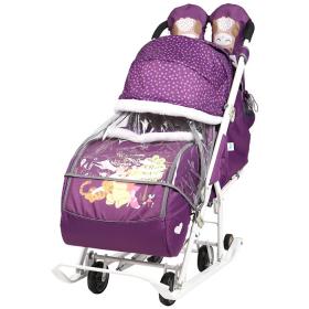 Санки-коляска Disney baby 2 DB2 цвет: баклажан/Винни Пух