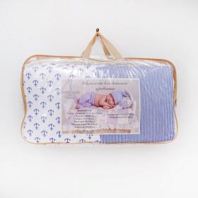 Комплект в кроватку Кубики 6 предметов 10607 цвет: синий/мальчик