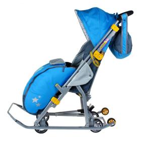Санки-коляска Ника-Детям 7 НД-7 цвет: синий/фокусник