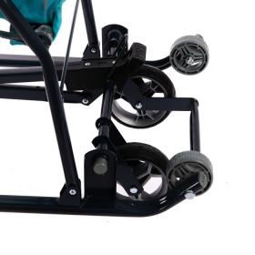 Санки-коляска Ника Умка 3-1 УЗ-1 бирюзовый/вязаный узор