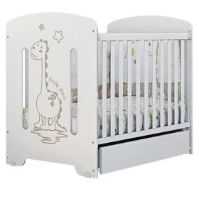 Кроватка ВДК Dino маятник+ящик цвет: белый