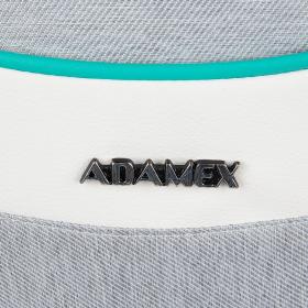 Коляска 2 в 1 Adamex Monte Carbon D30 цвет: Серый/Белый/Мятный