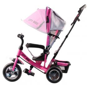 Велосипед трехколесный City-Ride JC7PS, цвет: розовый