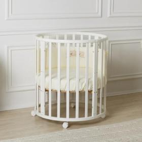 Кровать Incanto Mimi 7в1 круг-овал с маятником цвет: белый